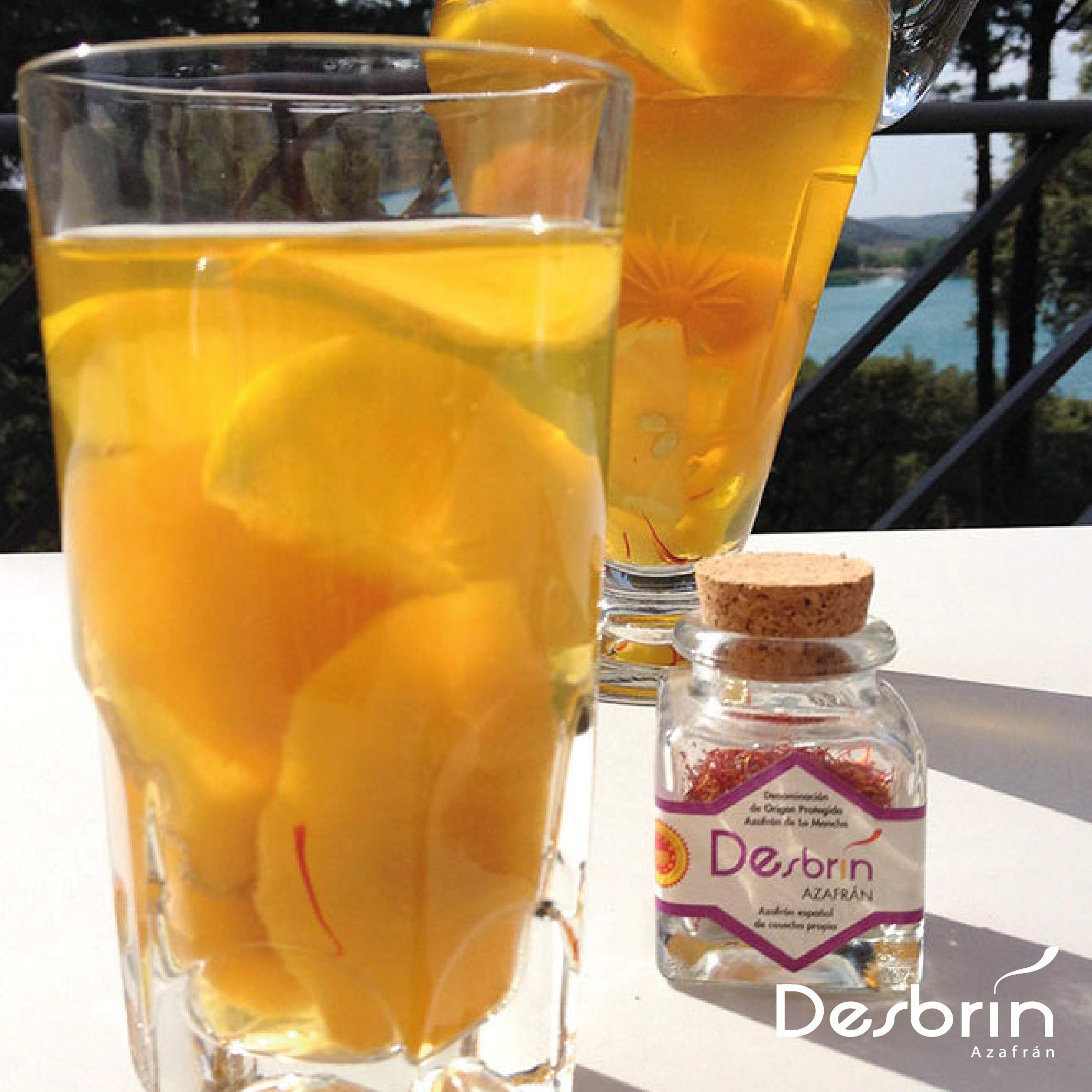 Bebida de manzanilla y azafrán Desbrín