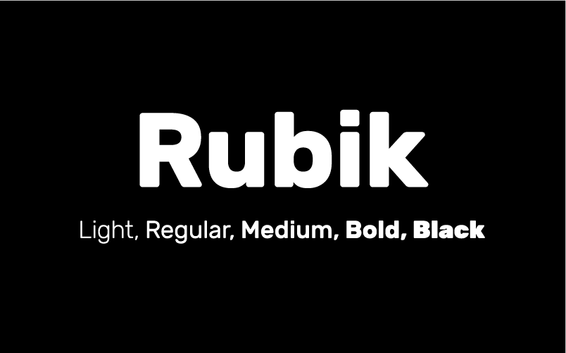 Rubik  - the typeface used for the 40out website.