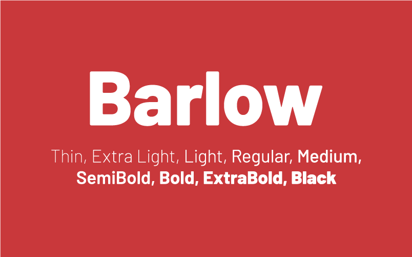 Barlow  - the typeface used for the 40out Wordmark, Logotype, and is also used for print design.