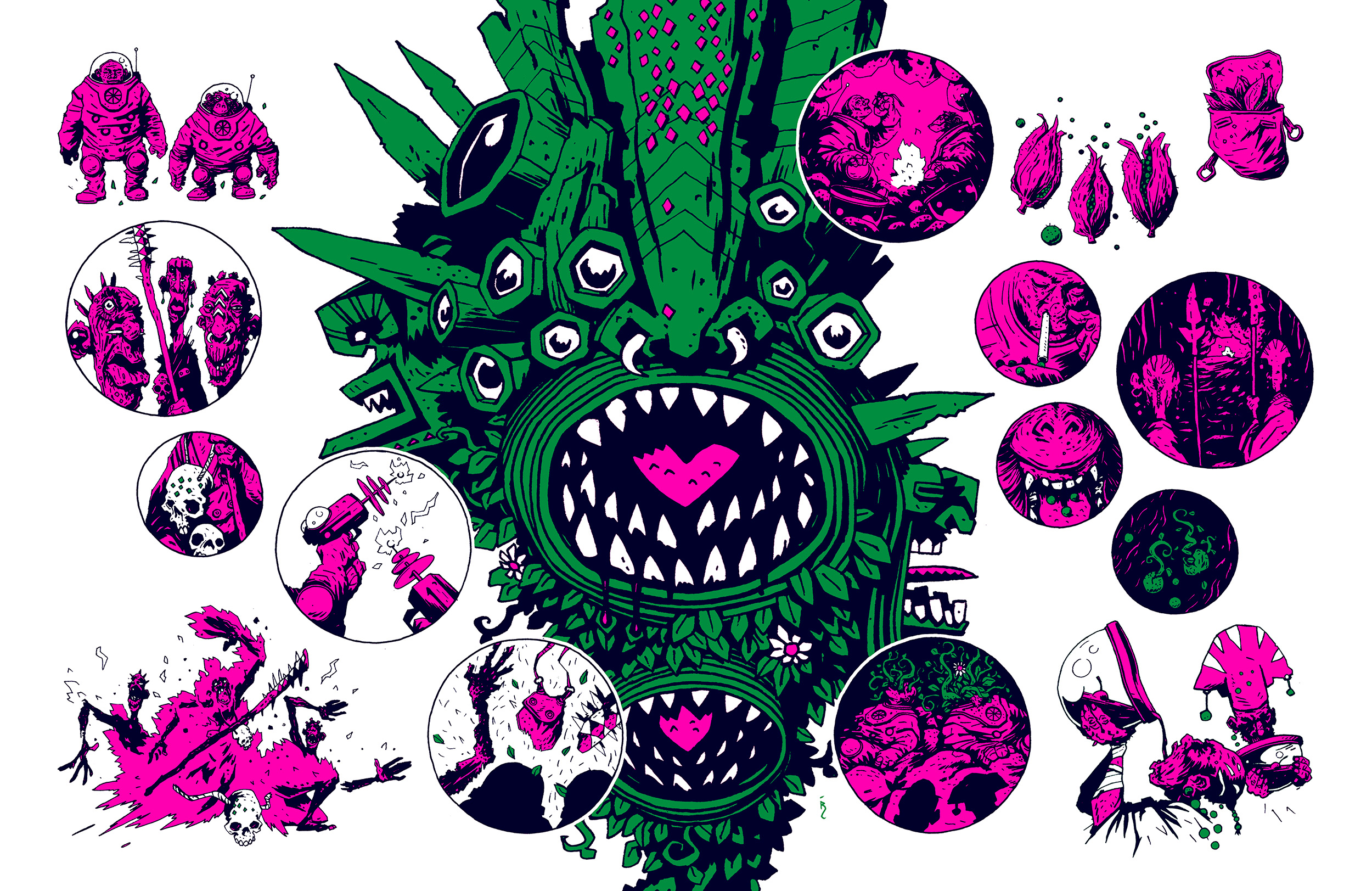 Planet Tropicana: final illustration/comic