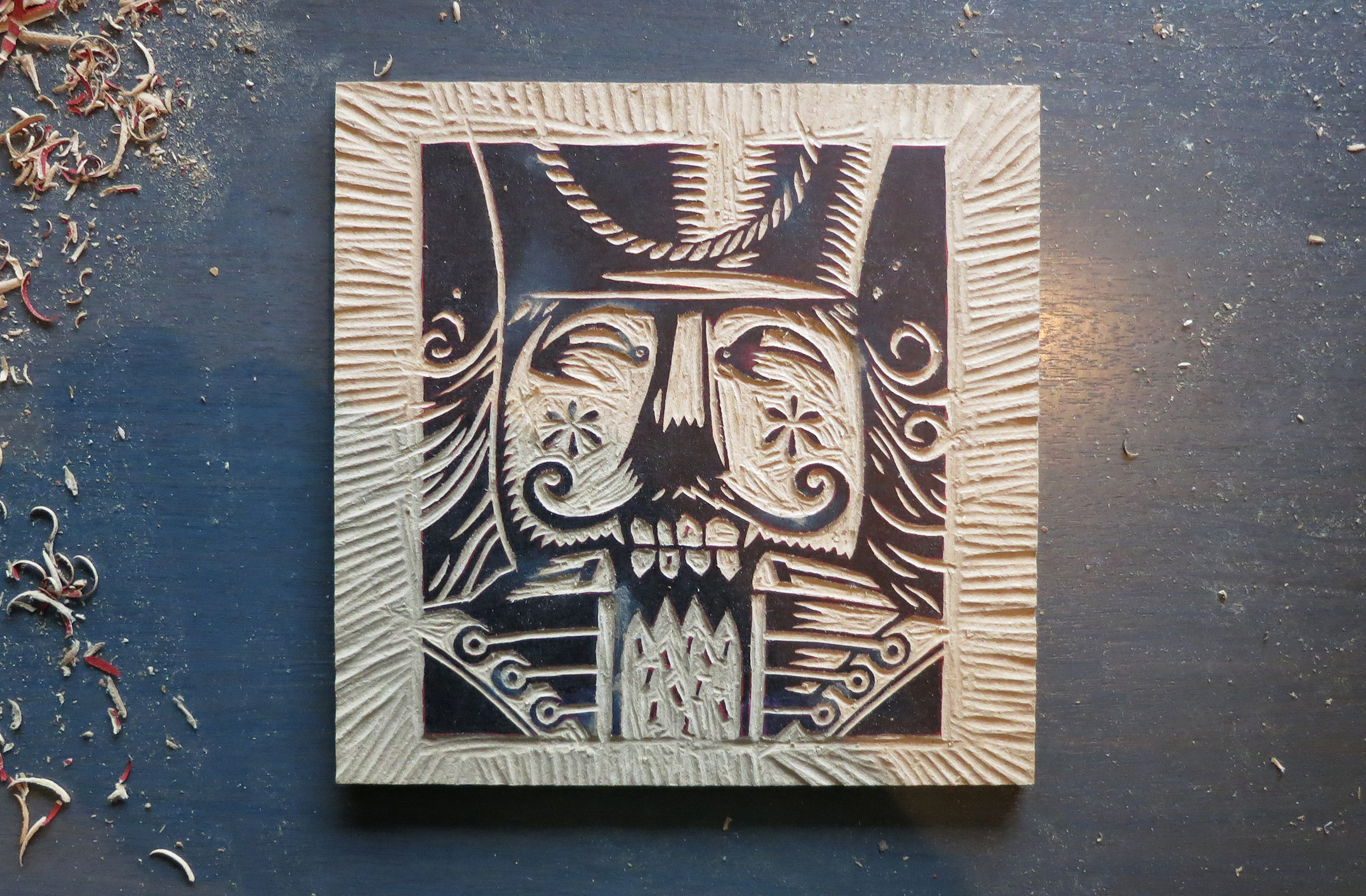 Nussknacker woodblock