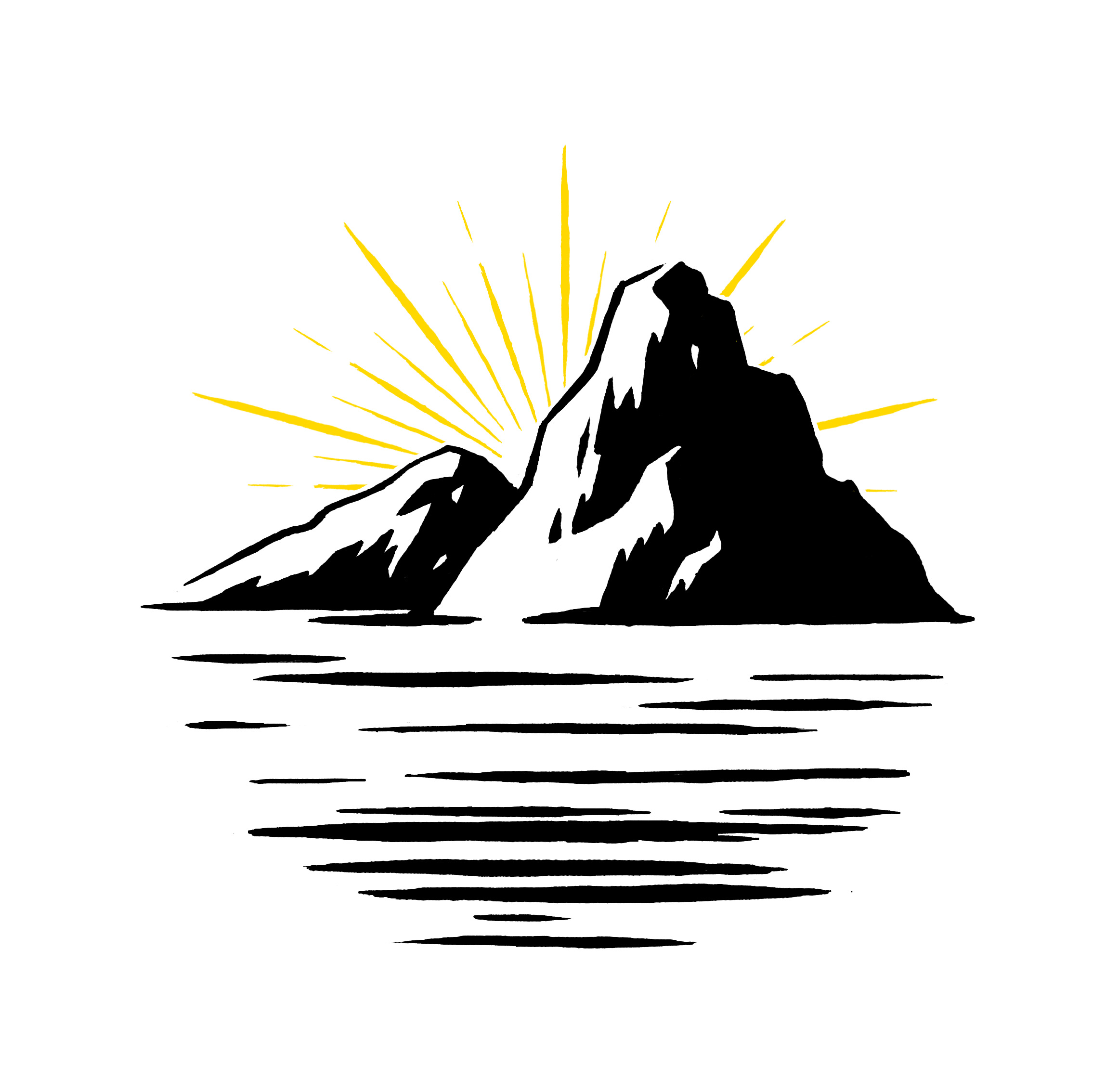 Style test/sketch for the iconic mountains