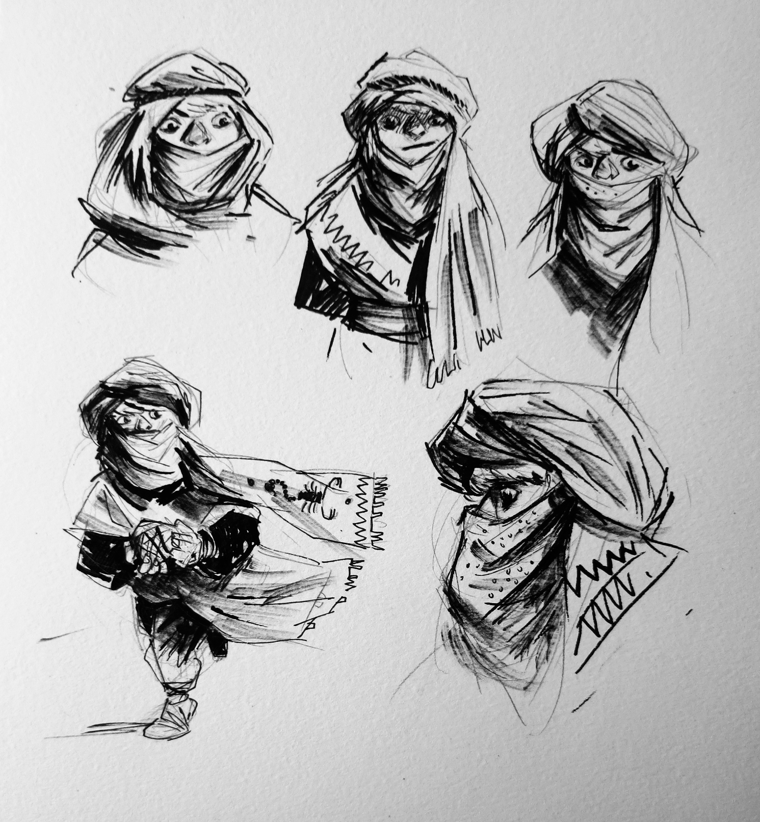 Piramide: character sketches