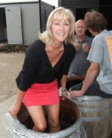 Lynne Levin treading Madame L Gamay.jpg