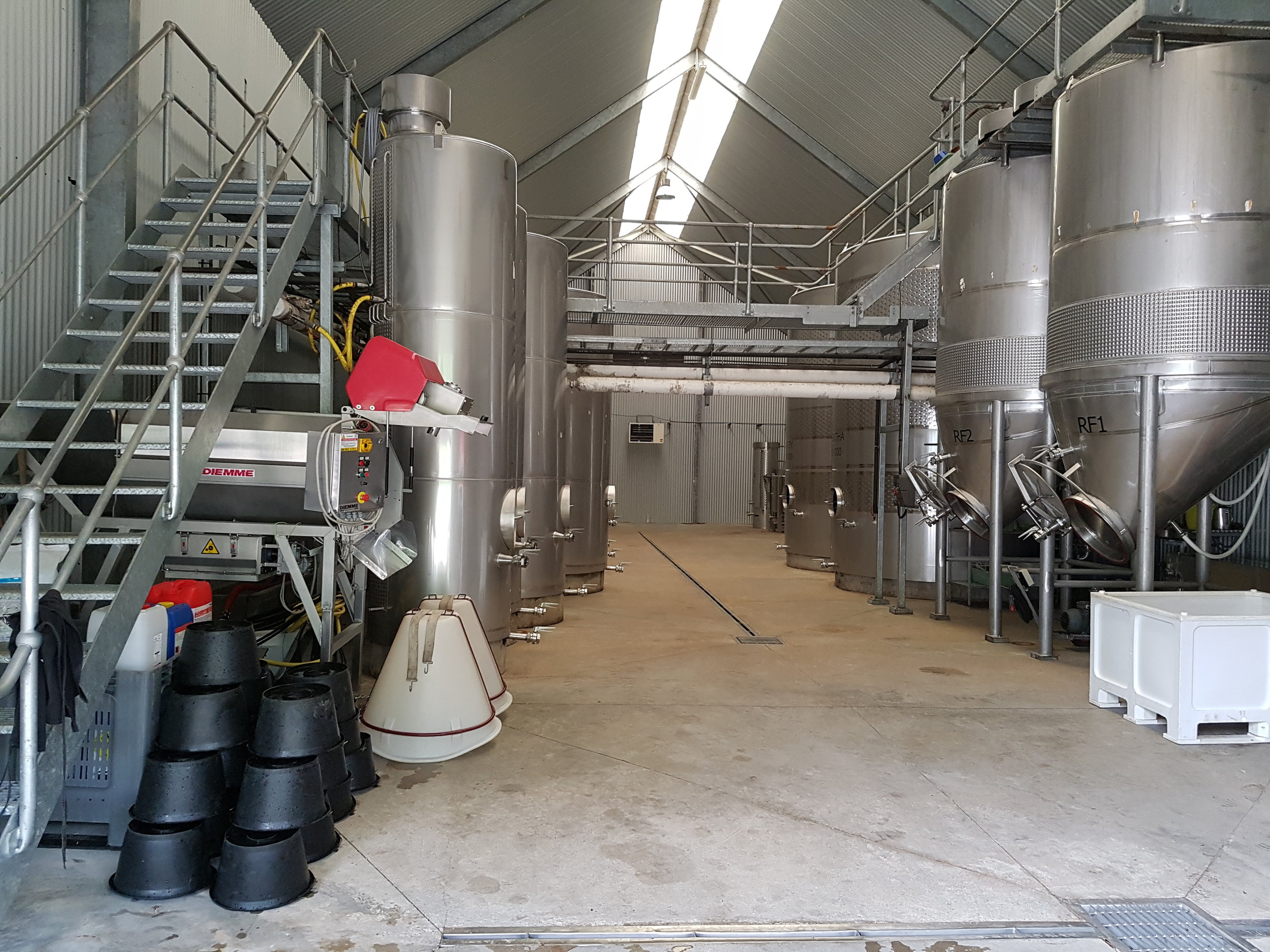 Levin Winery Spotlessly Clean and ready for vintage 2017.jpg