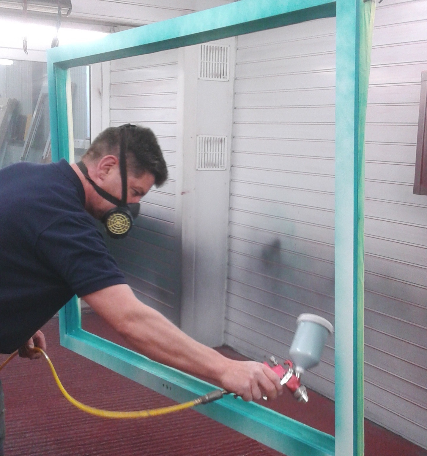 PVC Colour Coating - We specialise in transforming your existing U-PVC Windows, Doors, Conservatories, Fascia & Soffits & Commercial Curtain Walling with our on-site spraying, available in any colour.