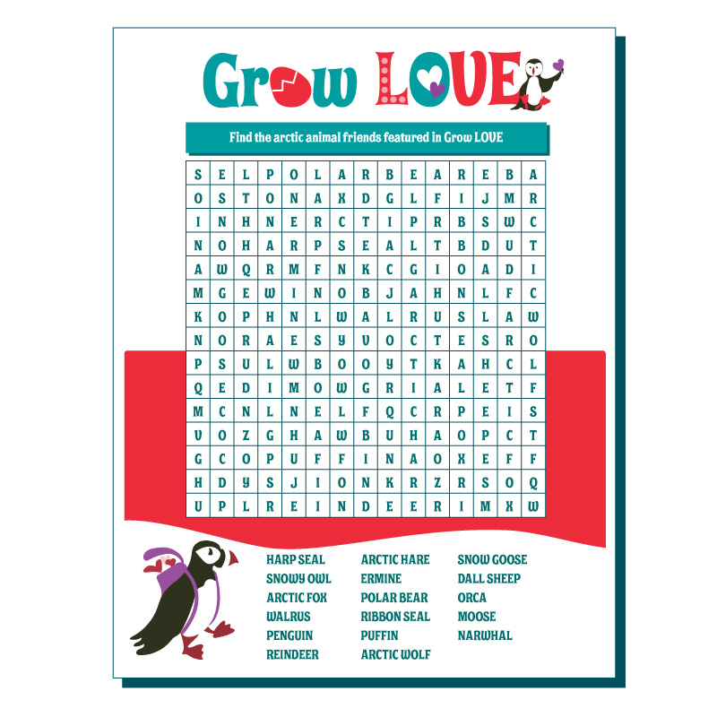 Grow LOVE children's book by Kimberly Wyman Children's Author Illustrator