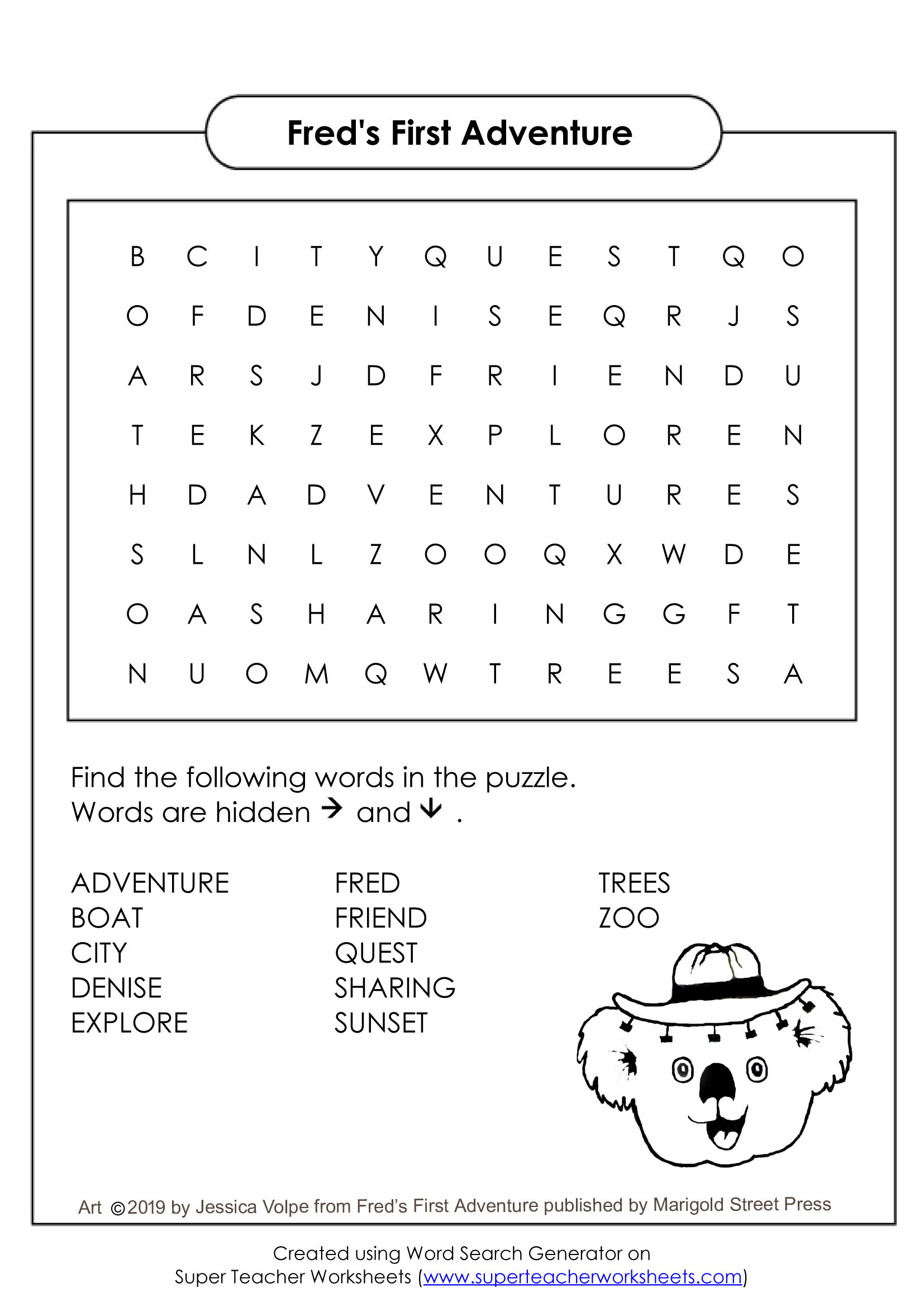 Here's a fun word search to challenge your brain!