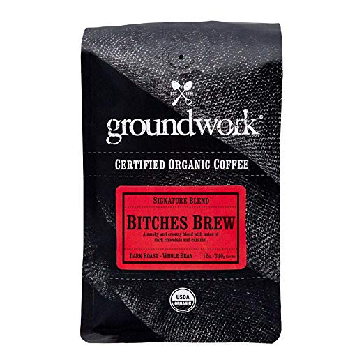Bitches Brew Groundwork Organic Whole Bean Dark Roast Coffee -