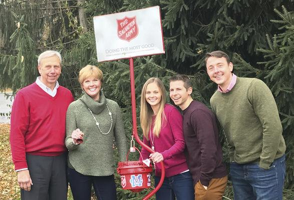 Photo courtesy Salvation Army of Michigan City The 2018 Christmas Chair Family for the Salvation Army of Michigan City are (from left) City Council member Don Przybylinski and his wife, Jinny; daughter Maryellen Salliotte and her husband, Scott; and son Joey Przybylinski.