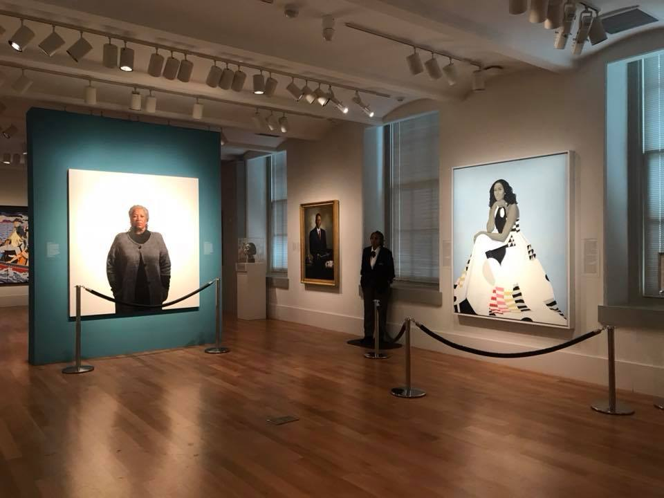 Toni Morrison and Michelle Obama at the National Portrait Gallery, Washington DC