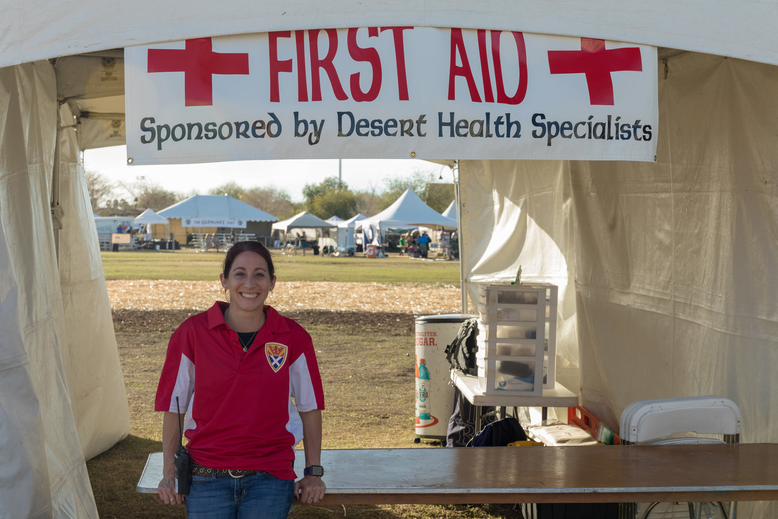 Desert Health Specialists volunteering at the 2019 Highland Games