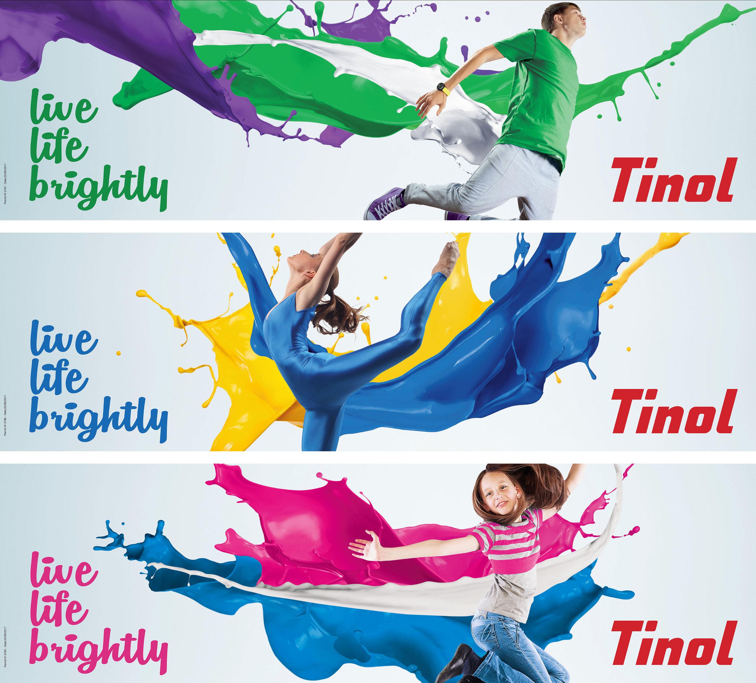 Tinol 'live life brightly'