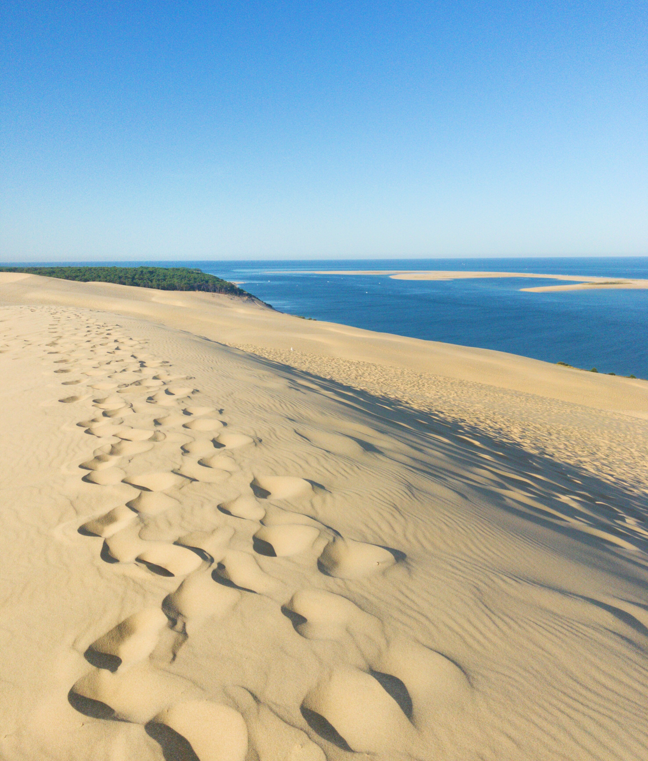 - Arcachon, definitely this one of a kind combination of what natures could offer at its best.Close to Landes Forest, the biggest artificial forest in Europe.Overlooked by the Dune du Pilat, tallest sand dune in Europe.Enclosing the Bassin d'Arcachon, a water area where Paris could fit in.