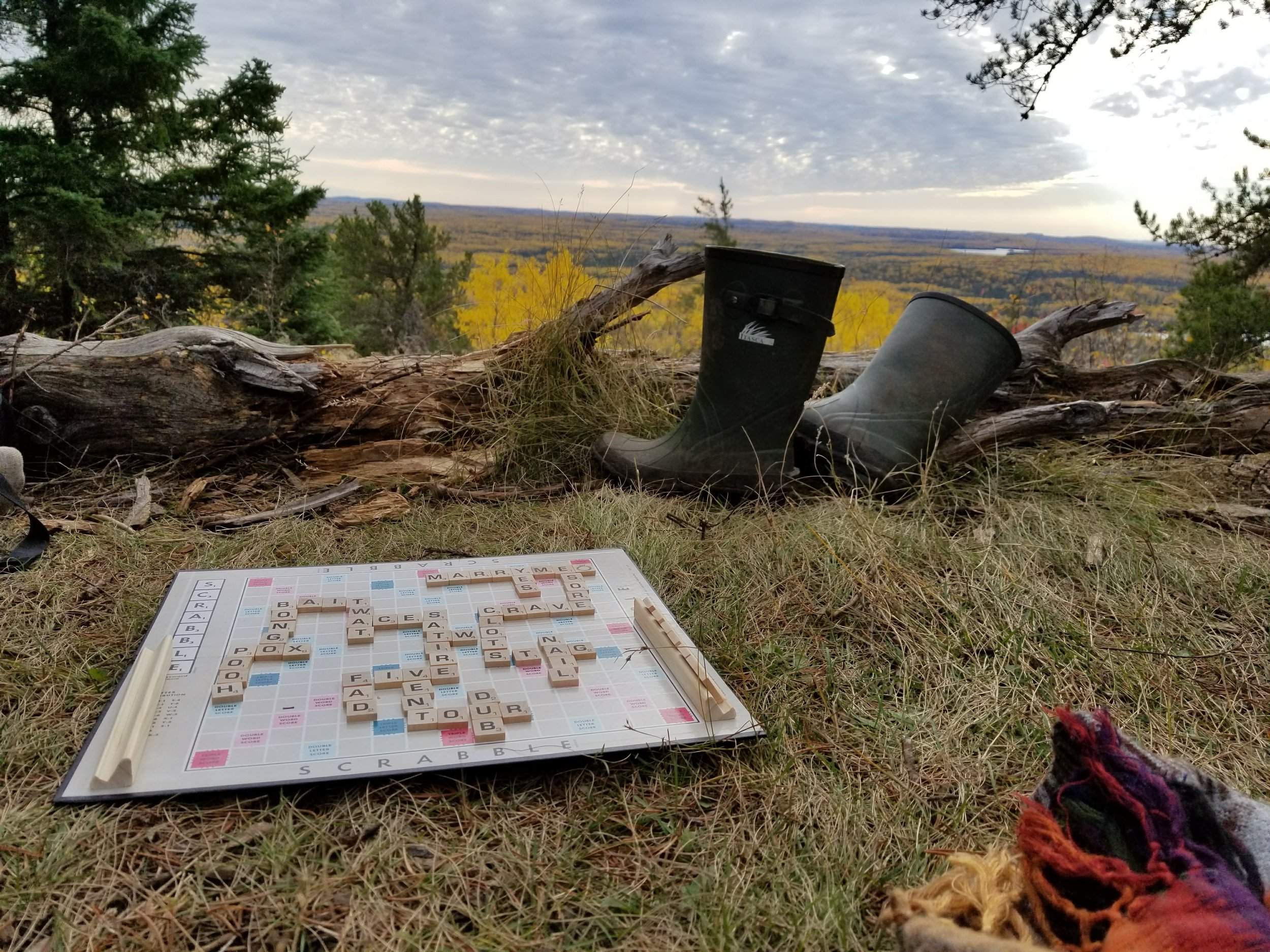 I'm CRAZY about words. So much so that I carried a scrabble board to the top of a mountain!