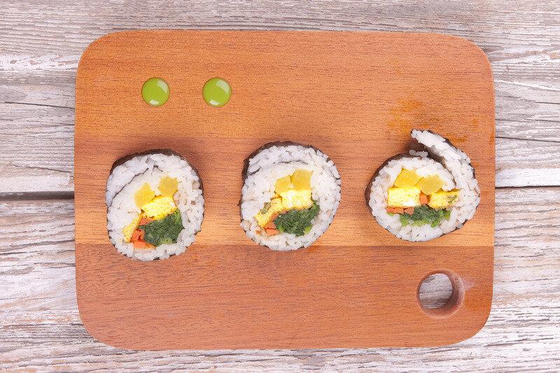 kimbap pierde în greutate