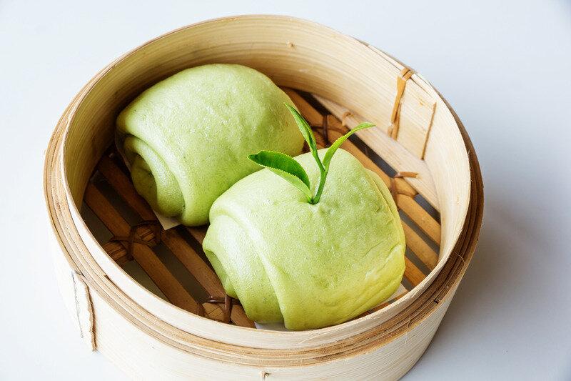 Canva - green tea Chinese steamed bun (Mantou)..jpg