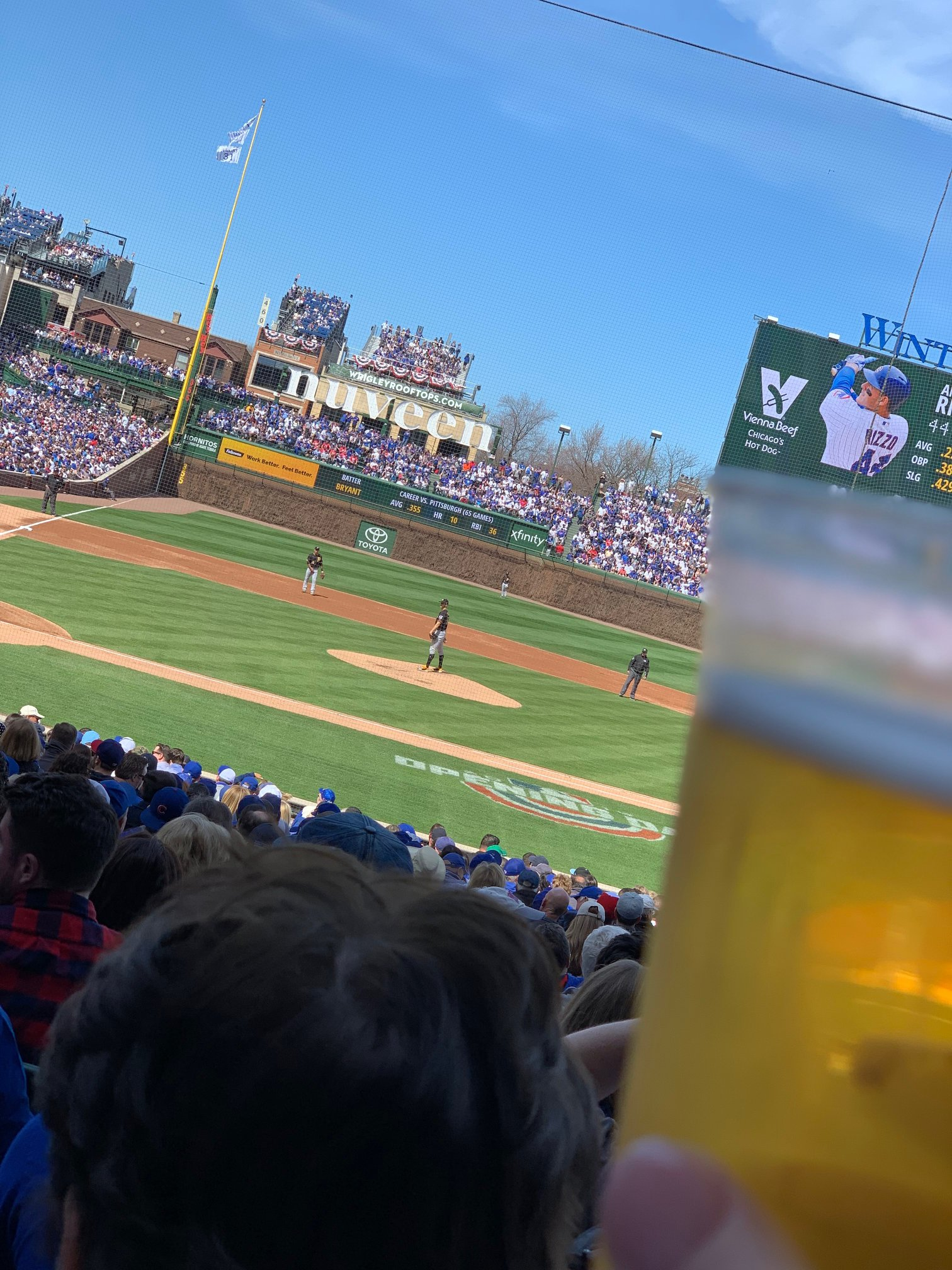 April 8th, 2019 Cubs Home Opener at Wrigley Field