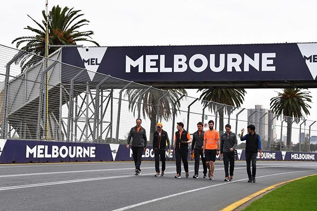 Let the season begin! 📸 @pirelli_motorsport . . . #ausgp #trackwalk #qualifying #formulaone #f12019 #melbourne #formula1 #australiangp #grandprix #f1 #gp #raceweekend #f1weekend #palmtrees #visitmelbourne #albertpark #practice