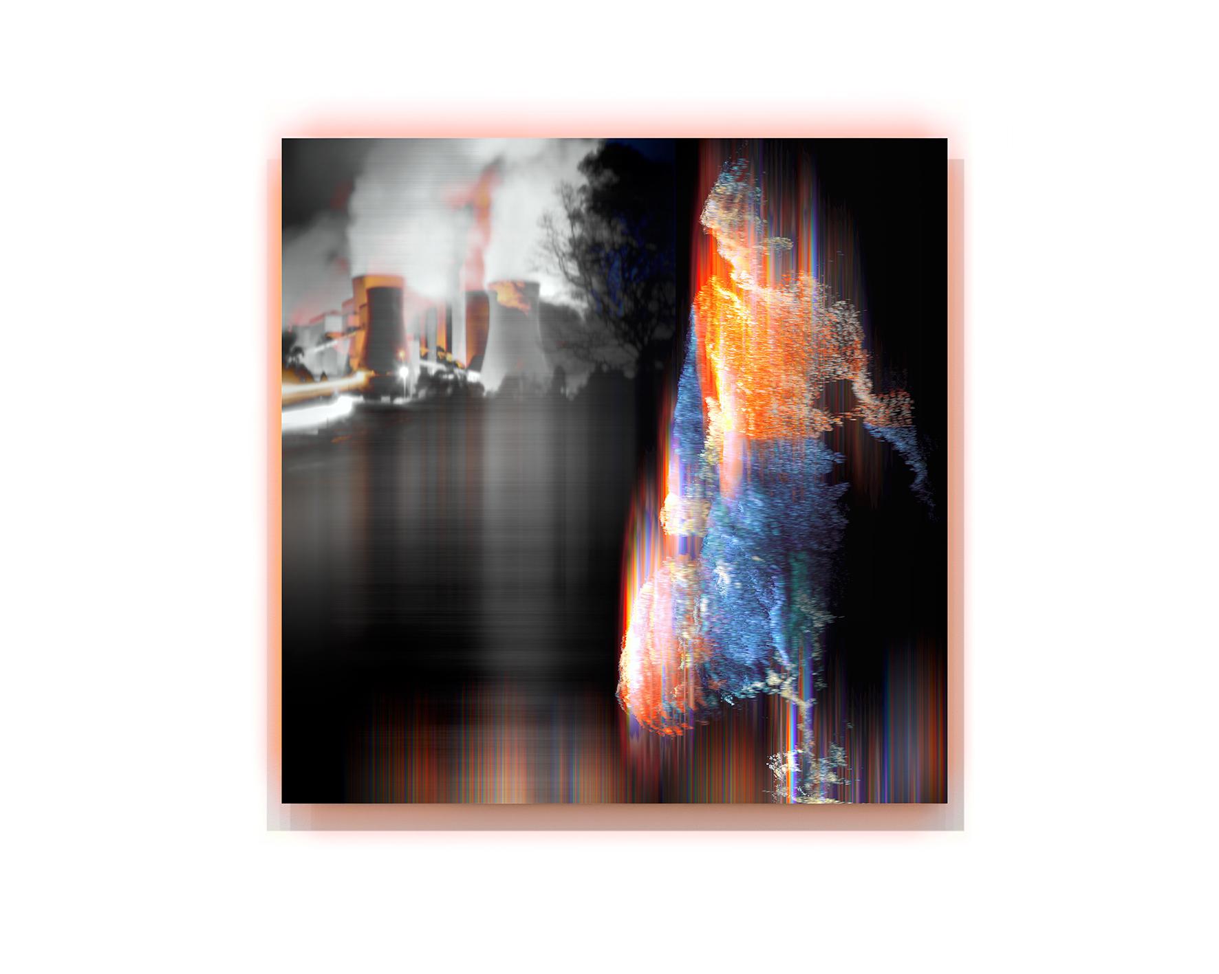 Night Shift  2018, pigment and enamel on aluminium, 120cm x 120cm
