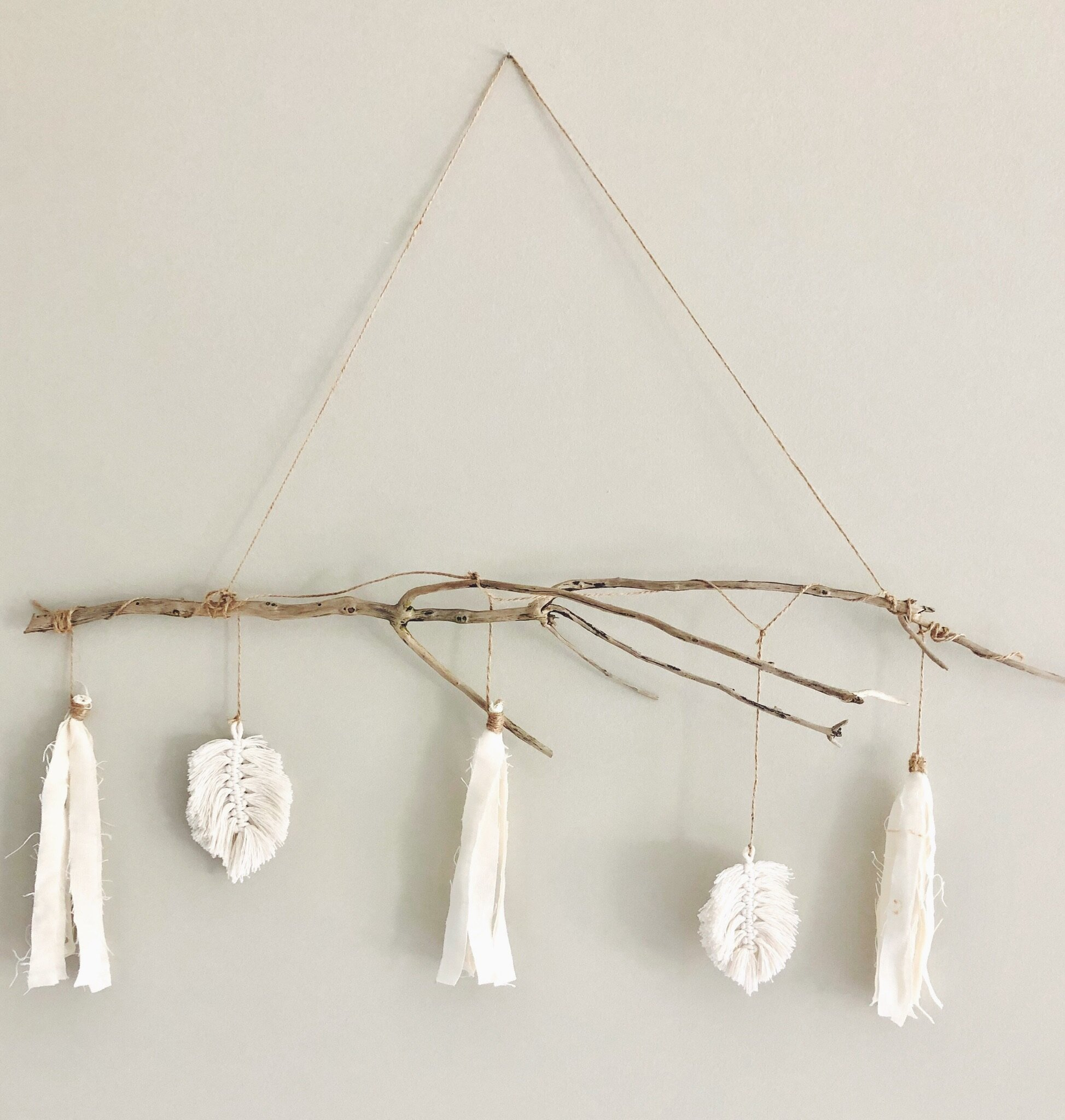 Natural Fiber Garland Wall Hanging