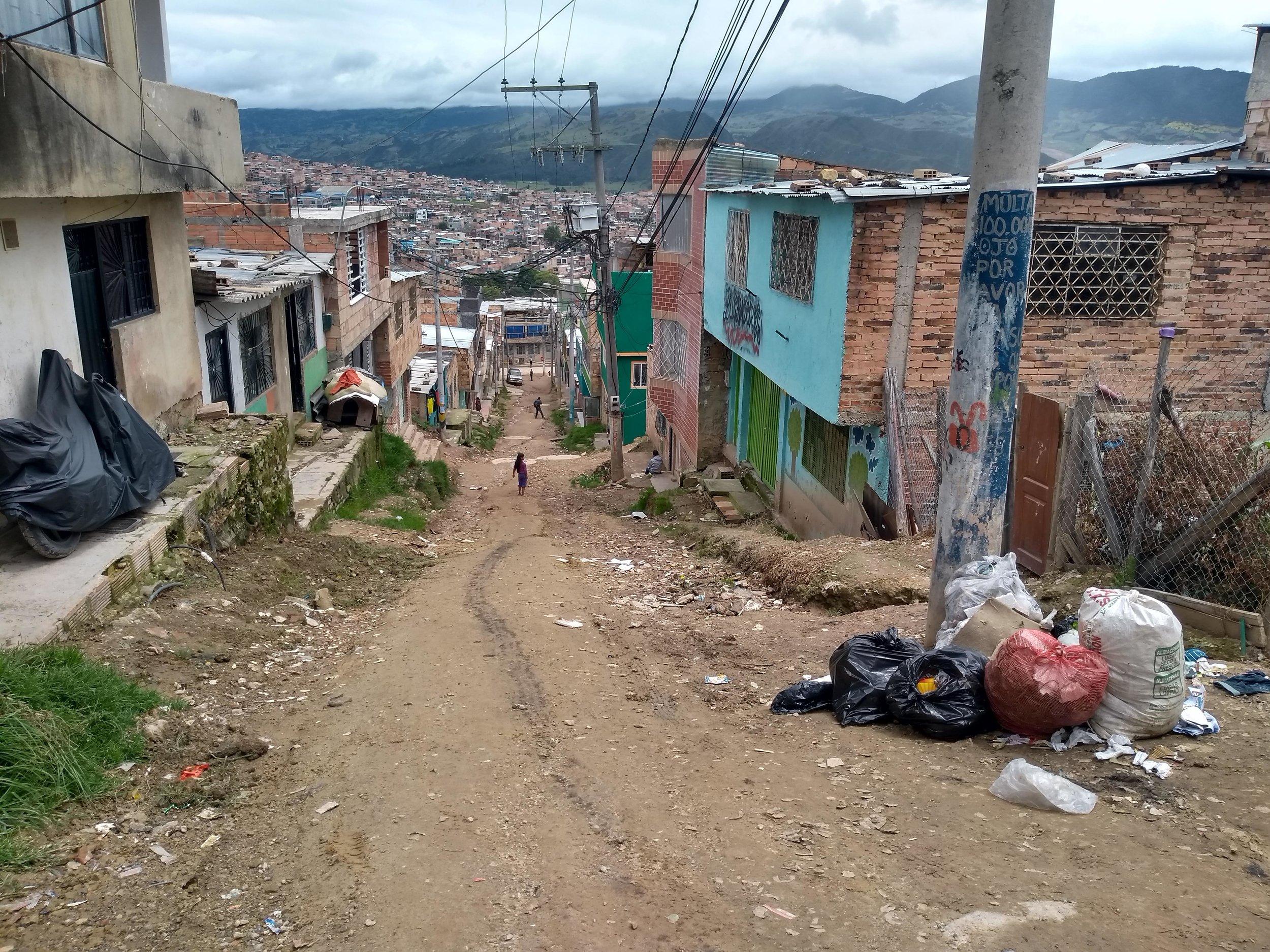Santa Librada, Usme. South of Bogota.