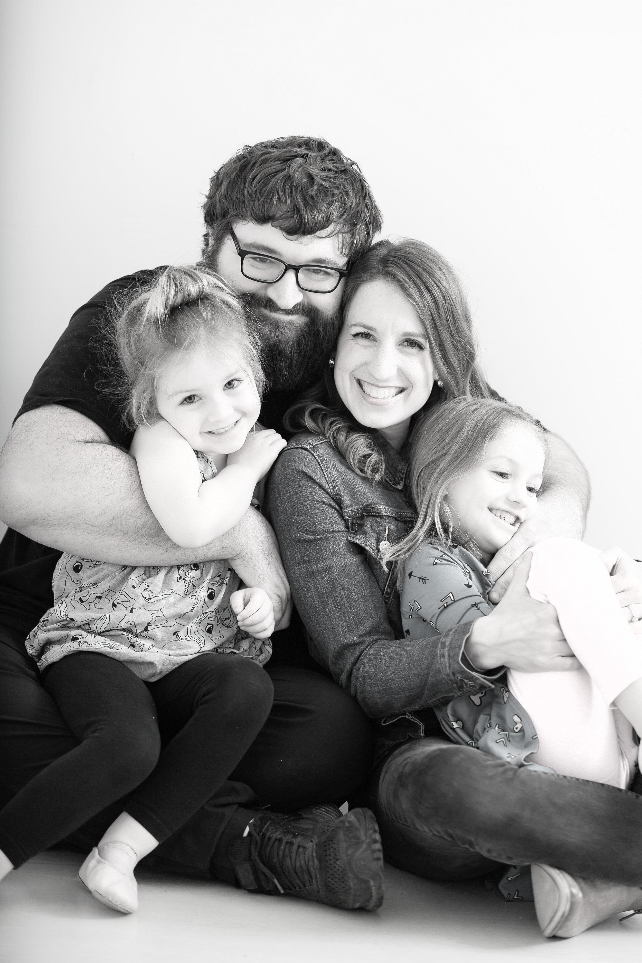 My family! Husband, Bryce. Lyla & Annabelle
