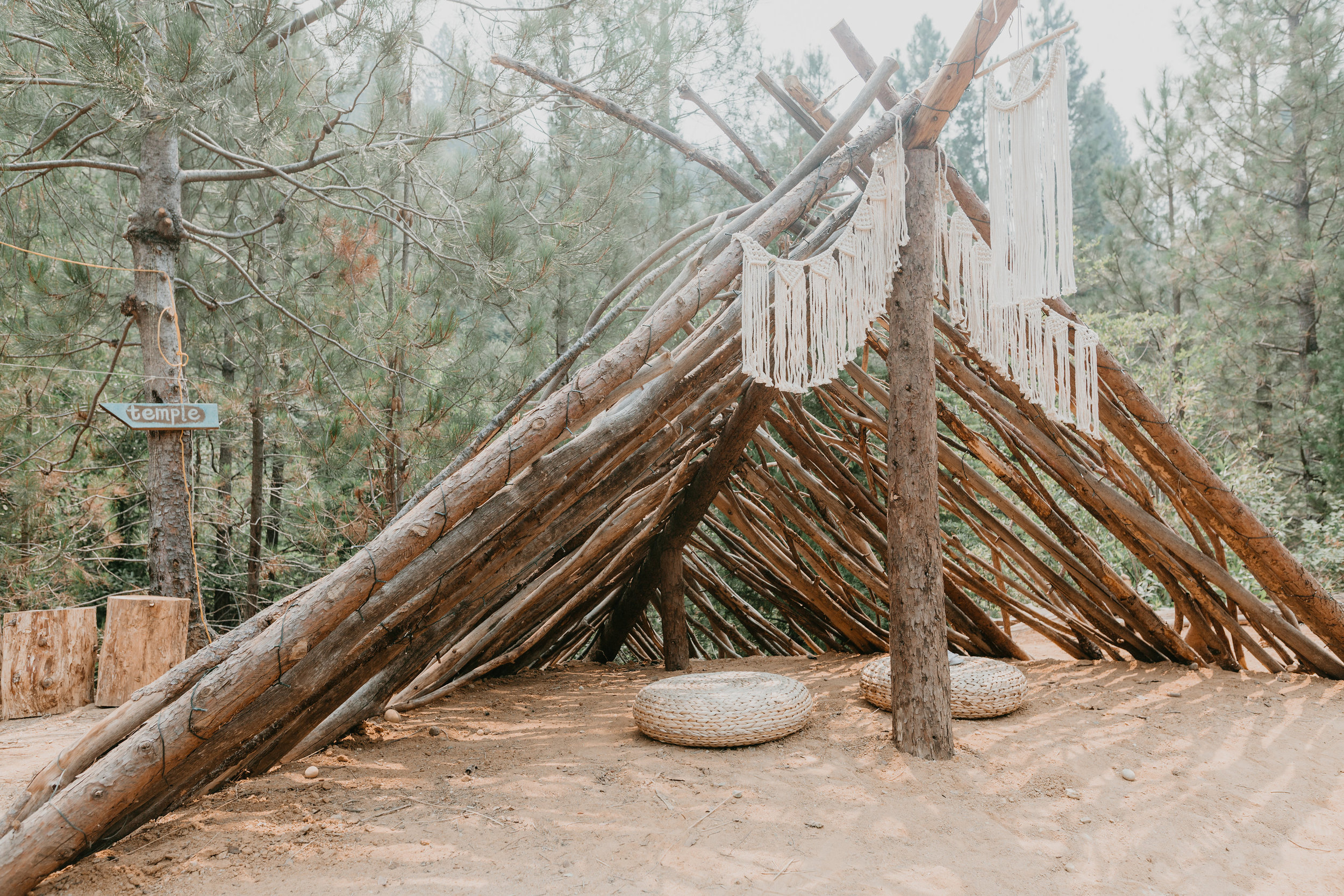 sacred spaces - This peaceful forest land holds sweet, lush space for all. Our manmade spaces throughout the land bring some comfort to help you integrate being in the elements of wild nature.
