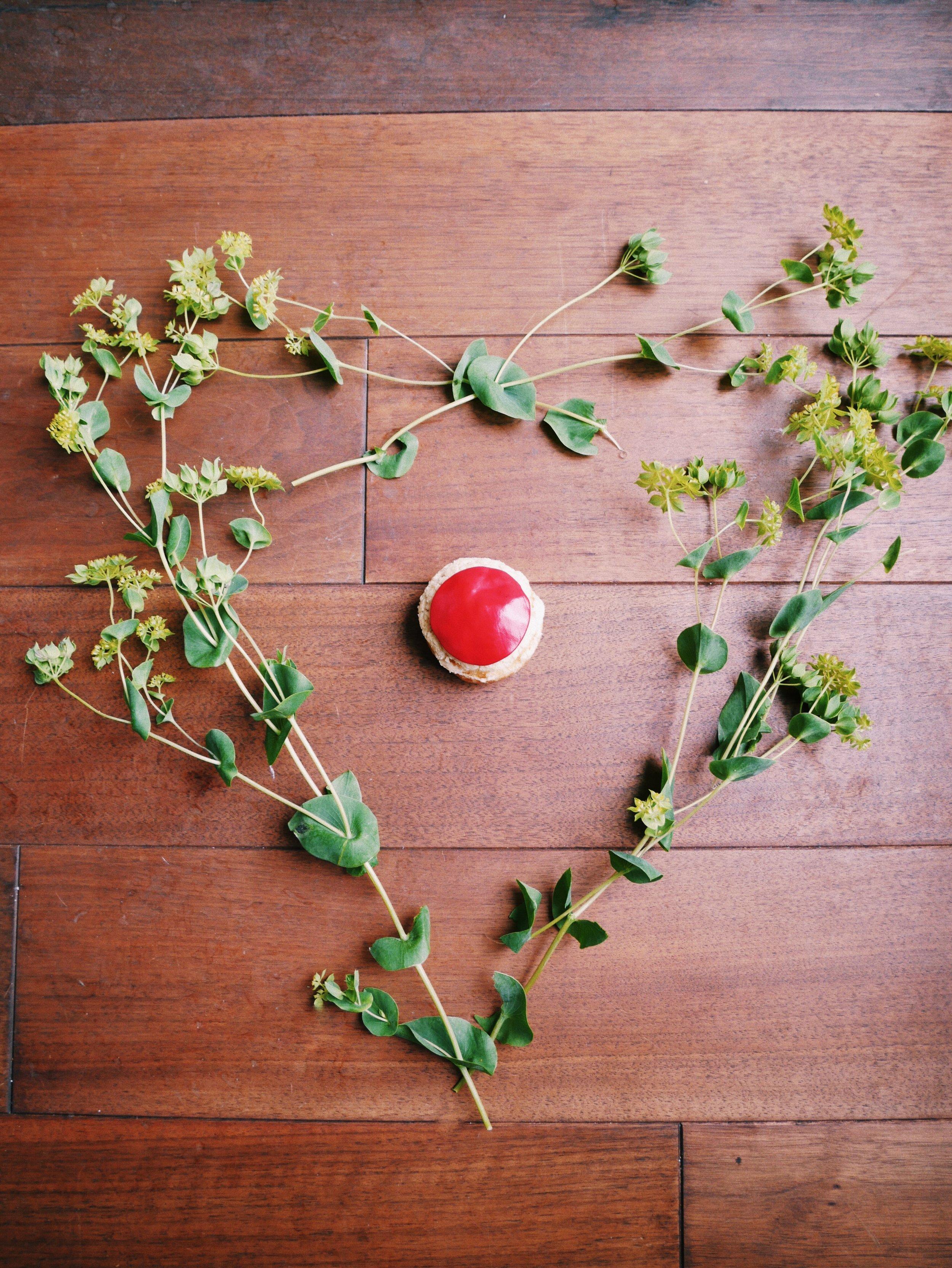 Raspberry choux