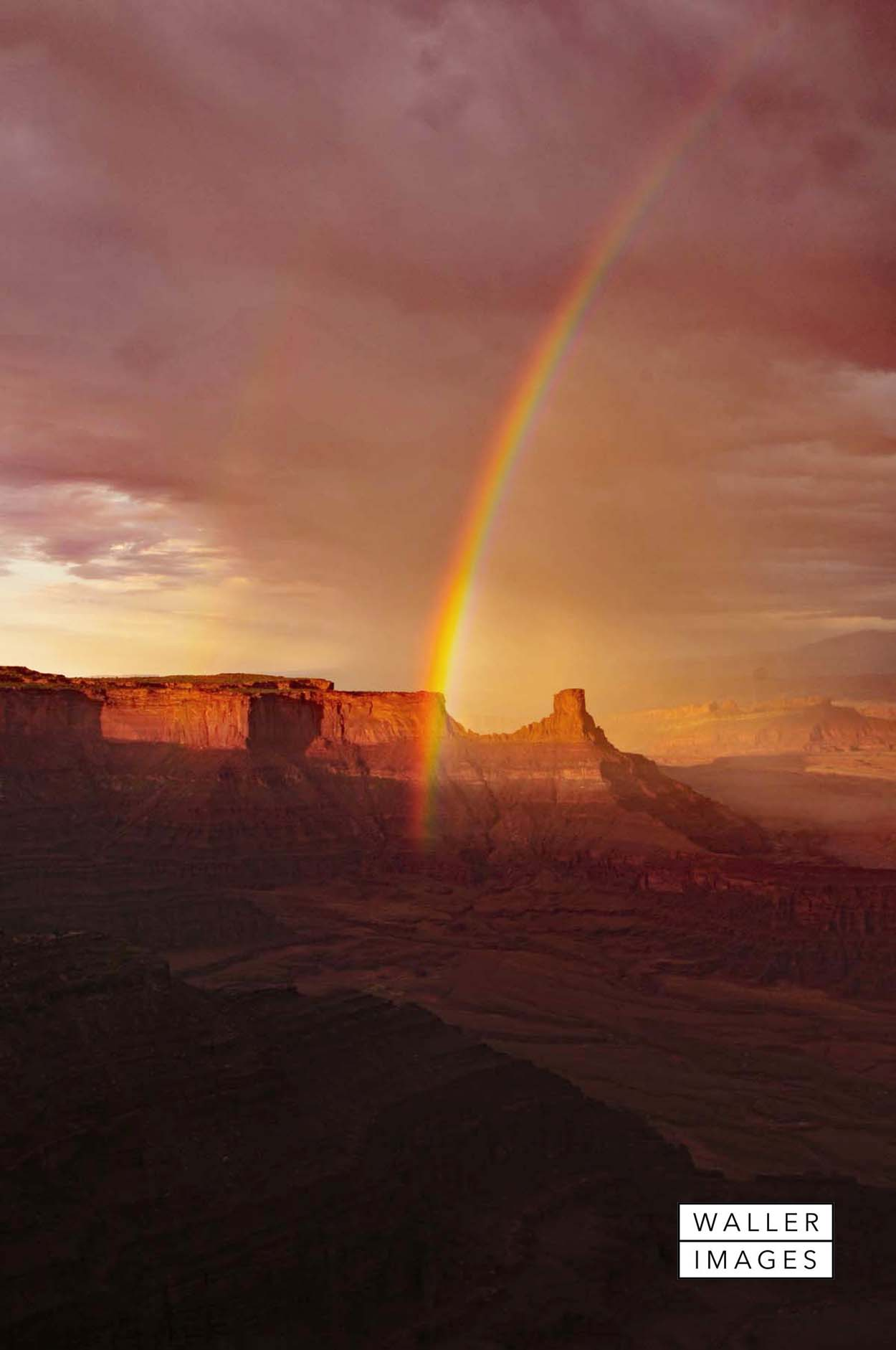 Double rainbow over Dead Horse Point State Park in Utah.