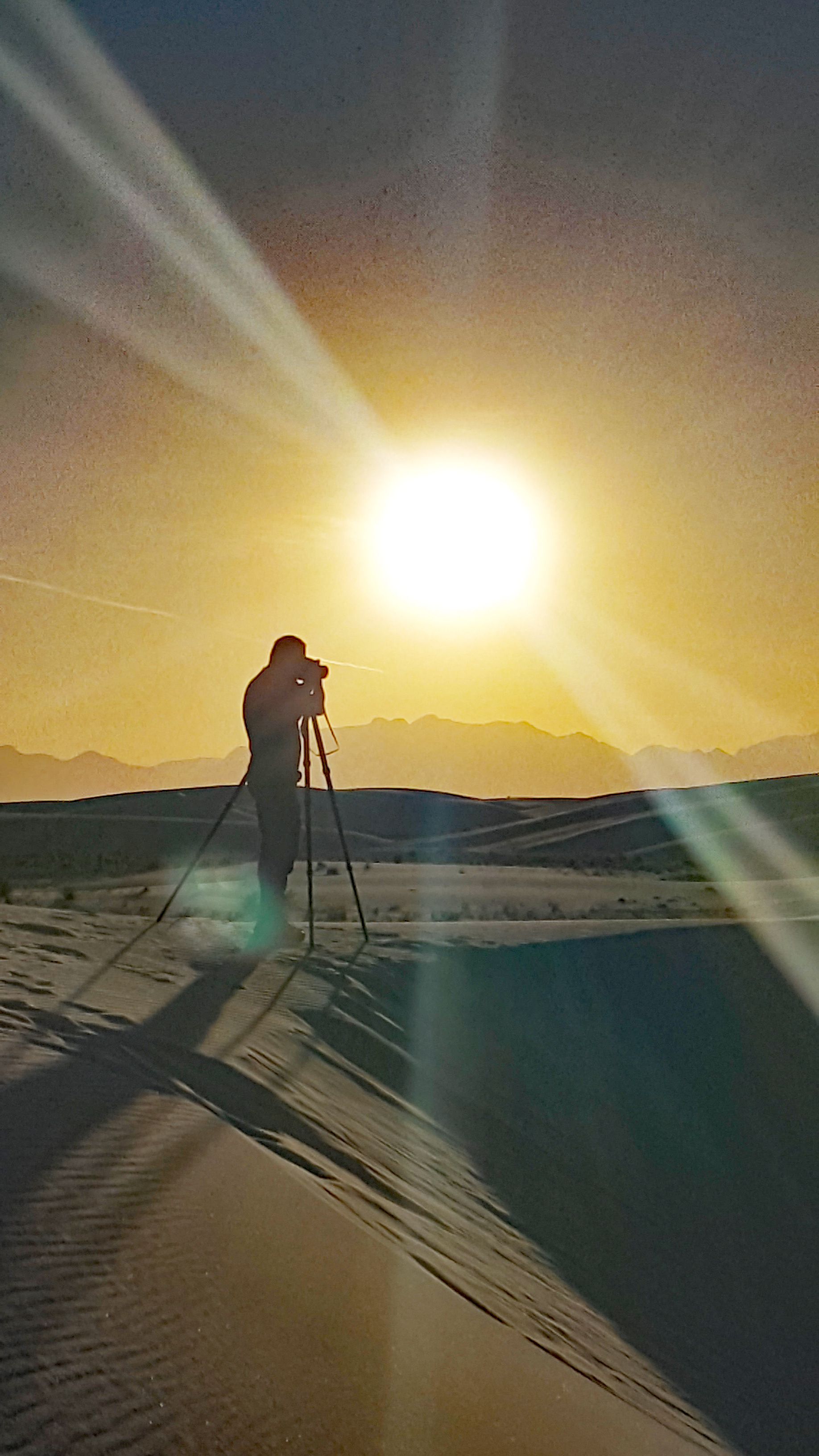 Photo by Amy Waller.    Sunset at White Sands National Monument, New Mexico, USA