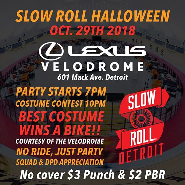 Close out the season with us with a party like none other! We had to cancel the ride but we wanted to show you the Velodrome so bad that we are gonna push forward. Lets use this opportunity to hang out with Squad and invite DPD to show our appreciation. Costume contest with a bike on the line, courtesy of the  Lexus Velodrome. Free Bikes 4 Kids will be there taking bike donations, so bring a bike to donate and make Christmas special for 1,000 kids! Come hang out, dress up, and enjoy some great drink specials $3 Punch and $2 PBRs