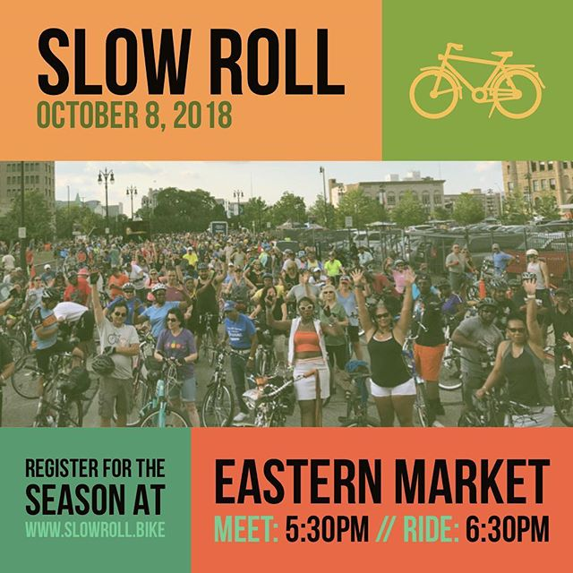 Ok Slow Roll lets try this again... again. Monday Oct 8th at Eastern Market Shed 2 #slowrolldetroit