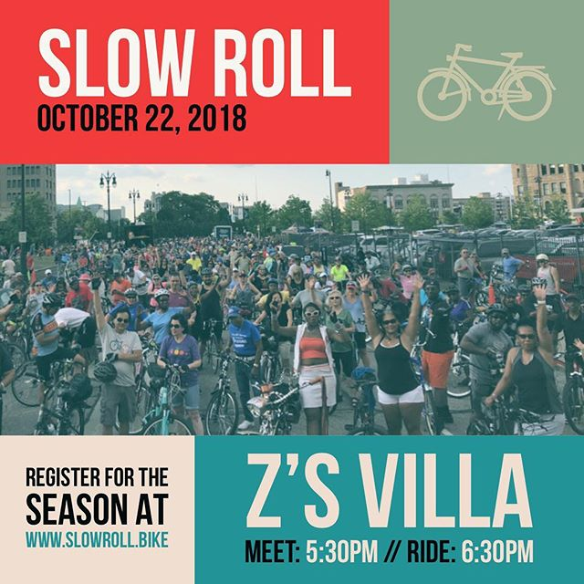 For our second to last ride we return to a favorite, Z's Villa! Be prepared for the weather and bring cash for the outdoor bar #slowrolldetroit