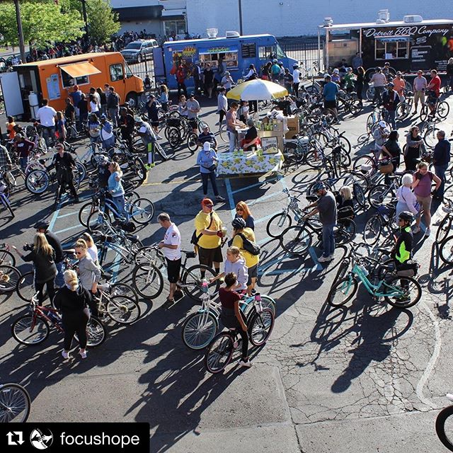 "#Repost @focushope ・・・ Shout out to @slowrolldet for coming out in full force yesterday for the ""Ride for Education"". Your donations are more than appreciated and we'll make sure they're put to good use! #slowrolldet #focushope #rideforeducation #detroit #bikes #slowrolldetroit"