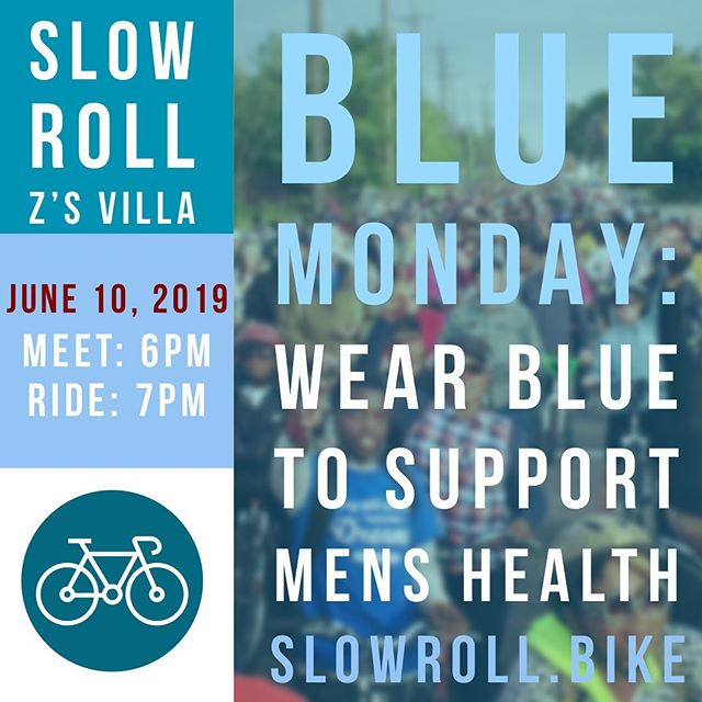 Slow Roll Blue Monday at Z's Villa! Wear Blue to support awareness for men's health.#BlueMonday #slowroll #BlueMondayMensHealth