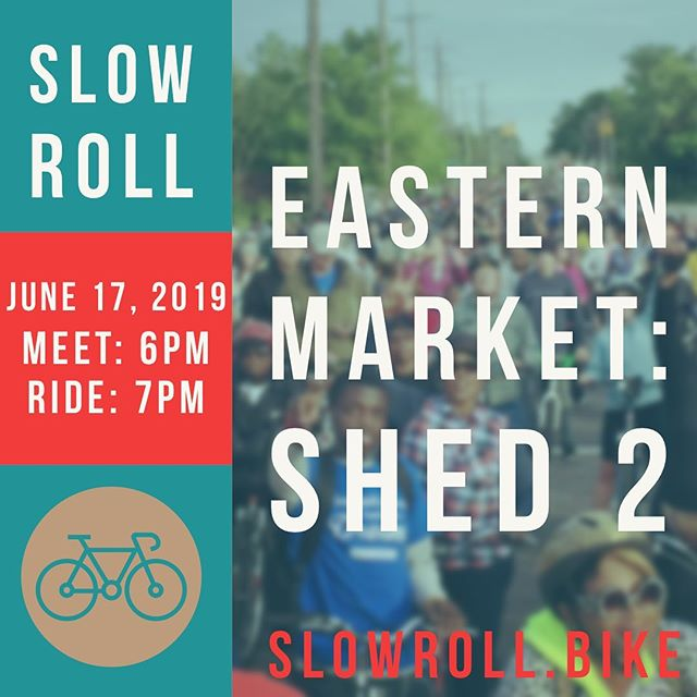 Thats right, meet at the market tonight! Always find the schedule and memberships at slowroll.bike