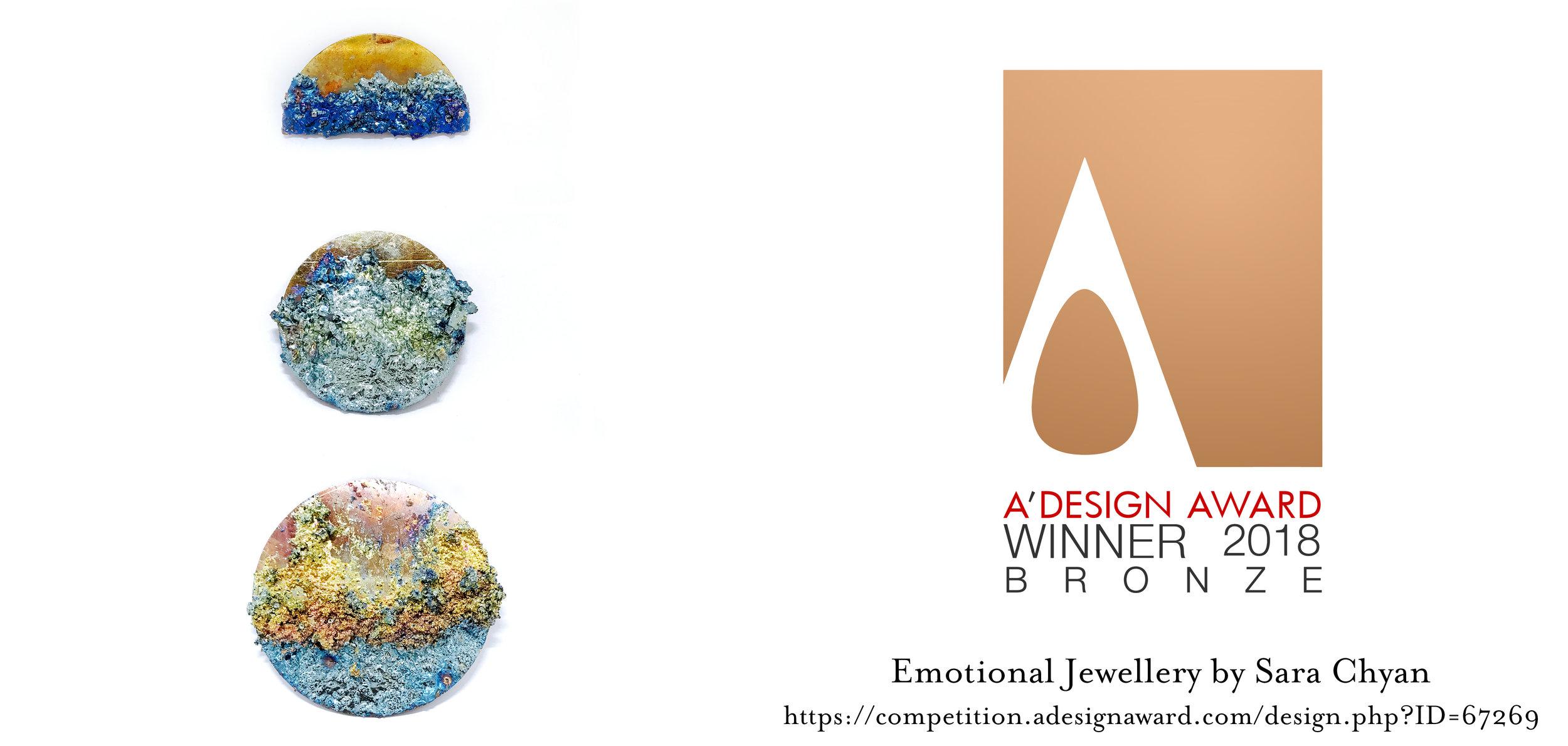 A' Design Award 2018 - Bronze Winner