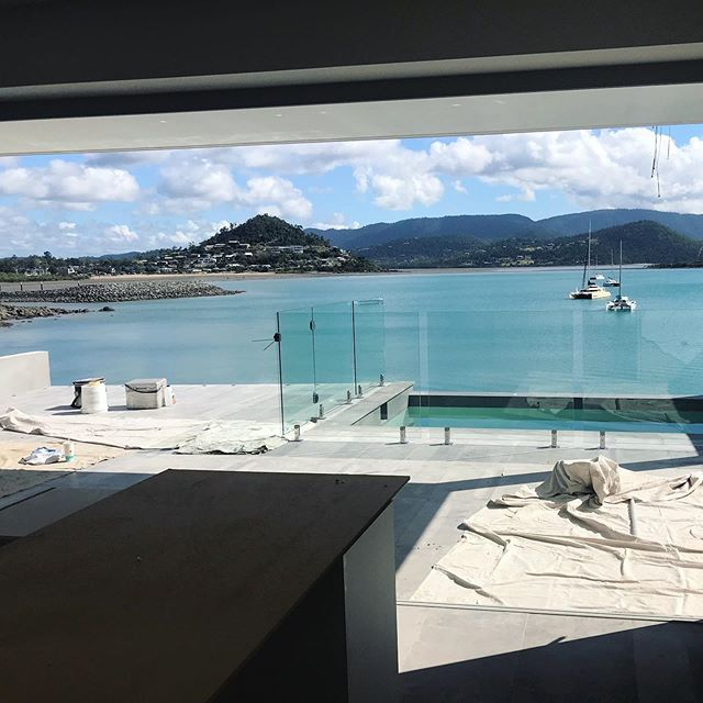 What a view from today's install site!  We can't wait to see the end result of this stunning home.