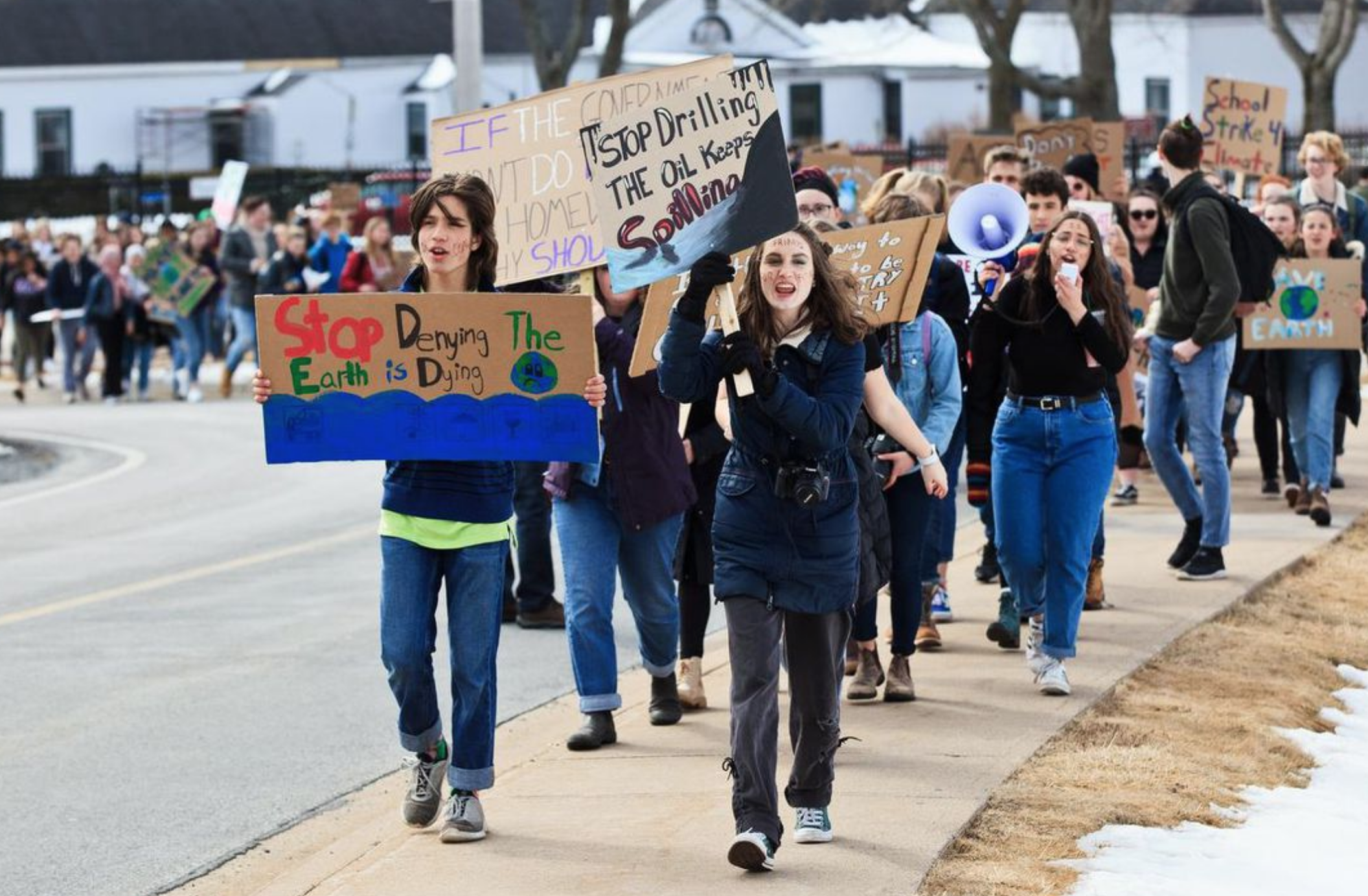 NOVA SCOTIA - Hundreds marched in Halifax, heading to City Hall then to Province House, the provincial legislative building. Halifax is one of two cities in Canada to have declared a climate emergency.