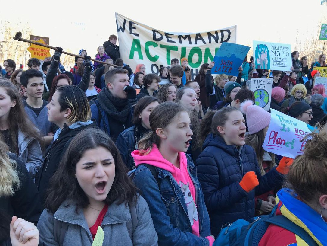 Alberta - Over 500 students marched in Edmonton and Calgary. Nothing else could be more powerful in the heart of Canada's oil sands.