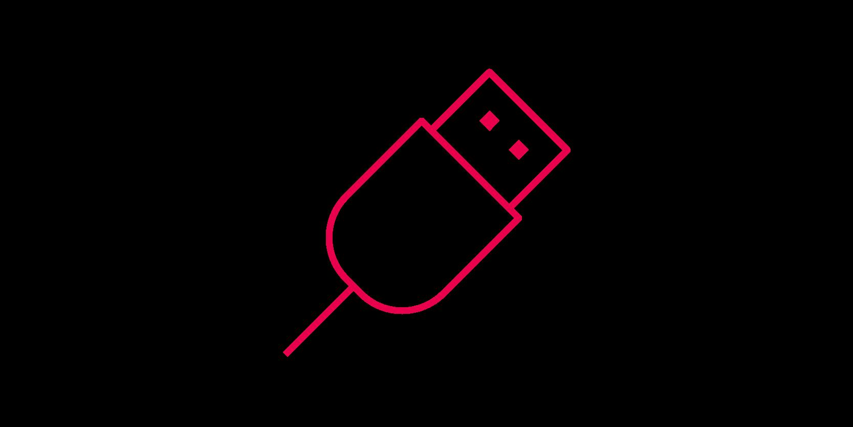 Exploitation from the device's USB socket