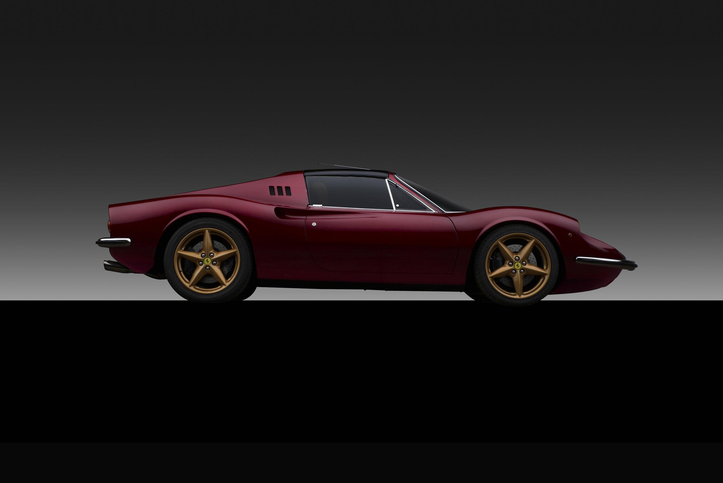 Dino 3.2 EVO Restomod with Ferrari V8 engine and Ferrari 360 18 inch wheels  Photo by   BILL PACK   of   V12 ENTERPRISES