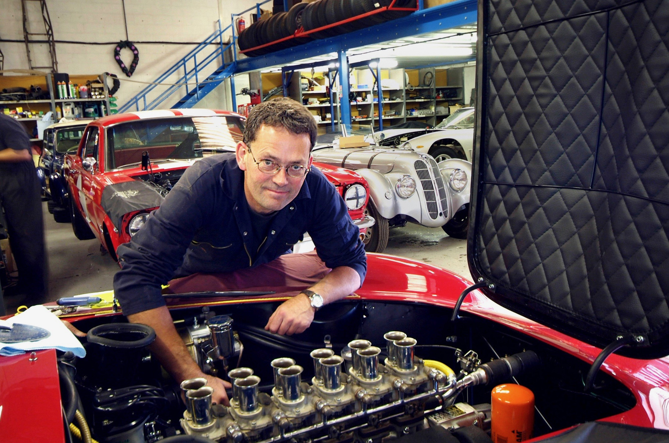 Martin Greaves of     CLASSIC PERFORMANCE ENGINNERING  . Working his magic on the Ferrari 250 GTO 3.0 litre V12 engine.
