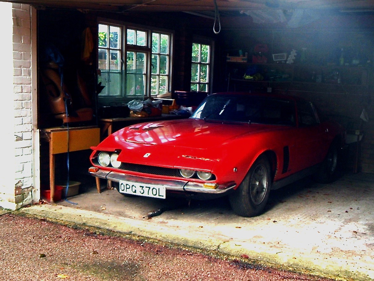 "Mark Cody's very rare ""Barn find"" a right hand drive Iso Grifo MK2 with manual transmission 1 of only 4 cars in the world."