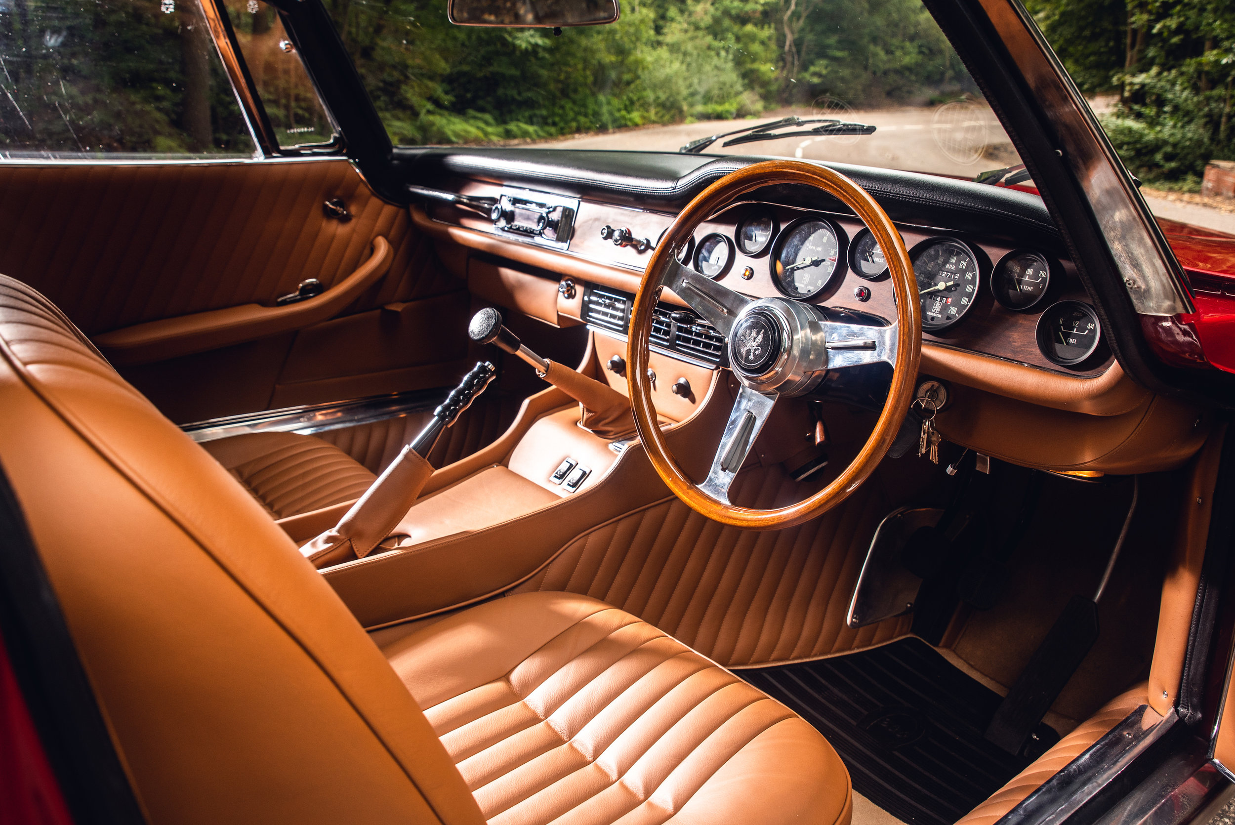 Iso Grifo MK2 Interior. Photo by   JAYSON FONG