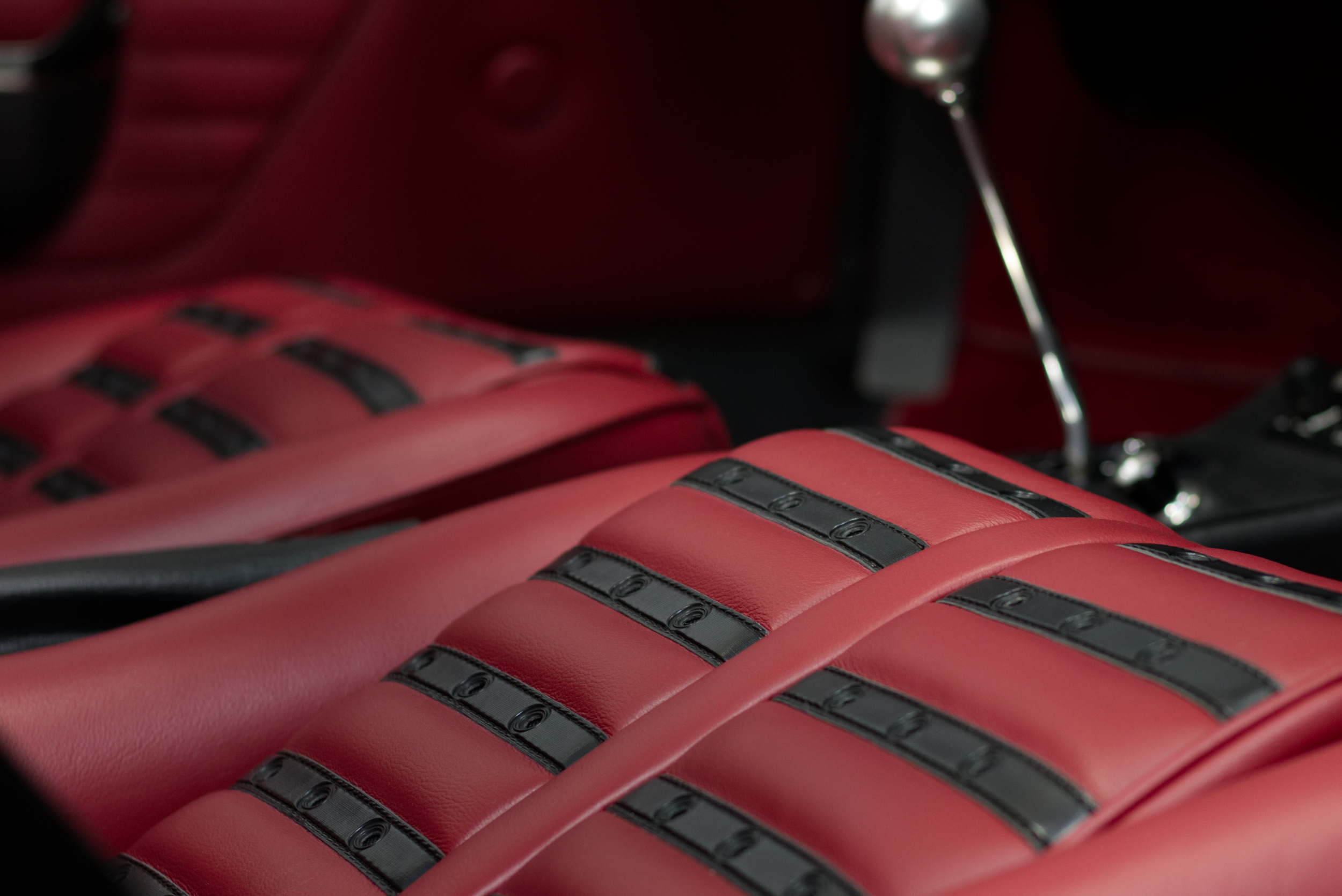 "The devil's in the detail. Perfect ""Chairs & Flairs"" interior on this Dino 246 GTS  Photo by   O'ROURKE COACHTIMMERS"