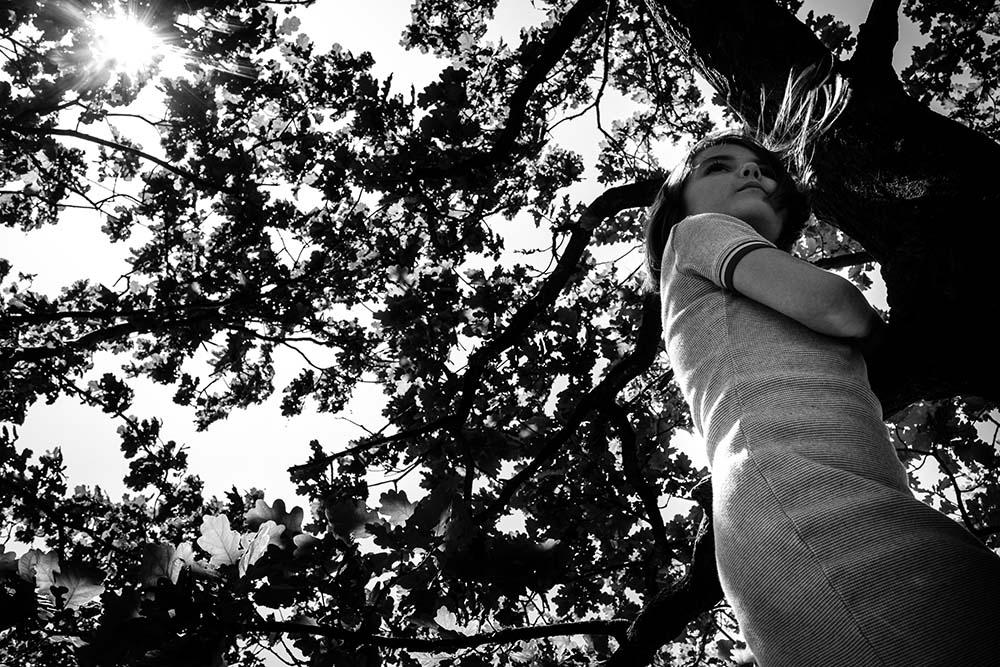 fotosessie in het bos
