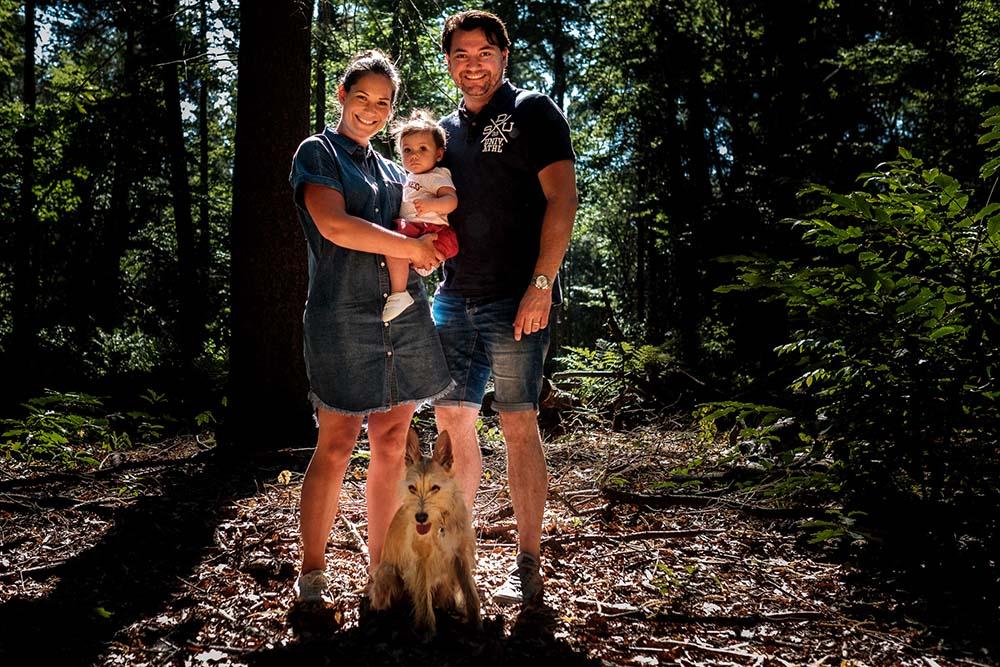 Familieshoot in het bos