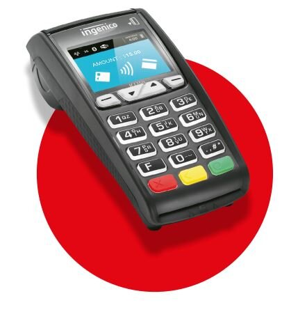 ICT250 - Desktop - A colour screen with large backlit keys, Contactless technology GPRS communication technology,Ideal for fixed and mobile requirements.